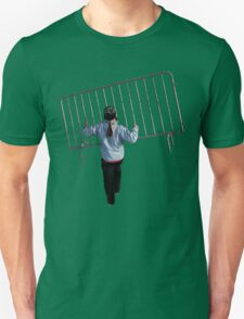 The corruption of democracy, barricade thrower. T-Shirt