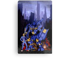 12th Doctor with Dalek Buster Metal Print