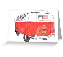 red van cutout Greeting Card