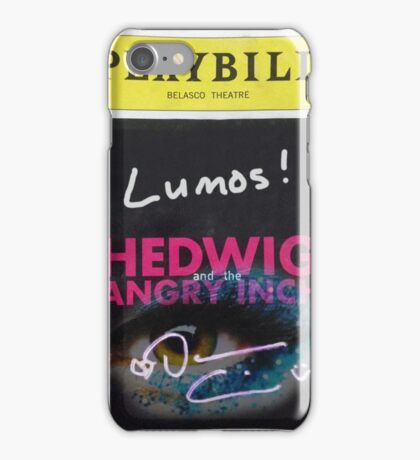 Hedwig Playbill Mix iPhone Case/Skin