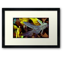 the yellow remained Framed Print