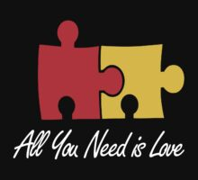 All you need is love funny puzzle by personalized
