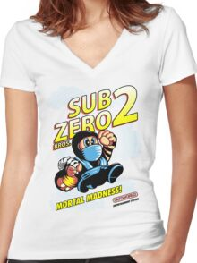Super SubZero Bros. 2 Women's Fitted V-Neck T-Shirt