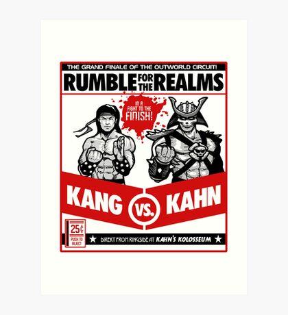 Let's Get Ready to Kombat! Art Print