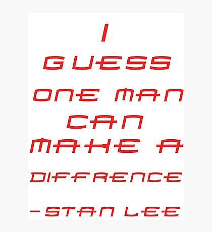 Stan Lee Photographic Print