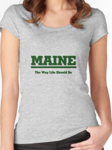 MAINE - The Way Life Should Be Women's Fitted Scoop T-Shirt