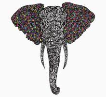 Elephant Rainbow  One Piece - Short Sleeve