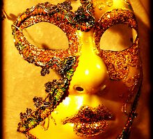 A mask of gold hides all deformities by HennaGoddess