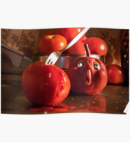 TOMATO FUNNY FOOD CRIME MURDER  Poster
