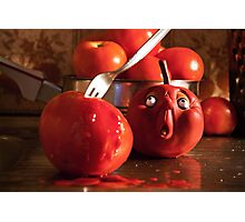 TOMATO FUNNY FOOD CRIME MURDER  Photographic Print