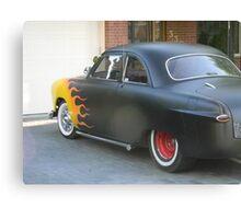 Hot Wheels Flame Car Canvas Print