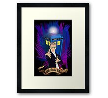 Time and Space Traveller with Rainbow Ray Ban Glasses Framed Print