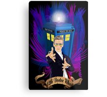 Time and Space Traveller with Rainbow Ray Ban Glasses Metal Print