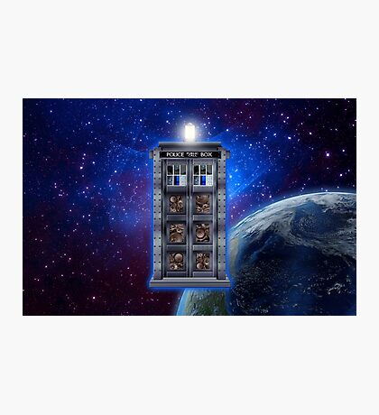 Time and Space travel Steampunk machine Photographic Print