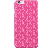 Breast Cancer Pink Ribbon Pattern iPhone Case/Skin