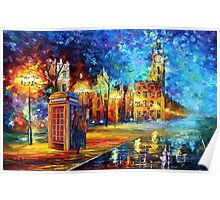 Sherlock Phone booth and Big ben art painting Poster