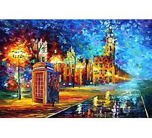 Sherlock Phone booth and Big ben art painting Photographic Print