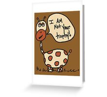 George the giraffe doodle Greeting Card