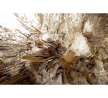 Cave rock formations Photographic Print