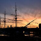 HMS Warrior - Portsmouth Dockyard by Sharon Bishop