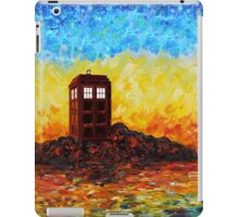 Time travel Phone booth in the Twilight zone art painting iPad Case/Skin