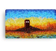 Time travel Phone booth in the Twilight zone art painting Canvas Print