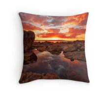 Sunset reflection @ Heybrook Throw Pillow