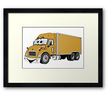 Container Truck Gold Cartoon Framed Print