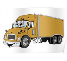 Container Truck Gold Cartoon Poster