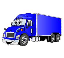 Container Truck Blue Cartoon Photographic Print
