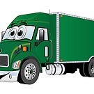 Container Truck Green Cartoon by Graphxpro