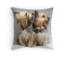 Has she finished? Throw Pillow