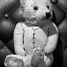 Edward Bear reclining by Rob Beckett