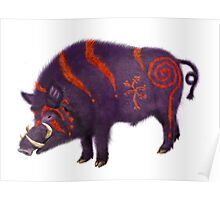 Boar Totem with war paint Poster