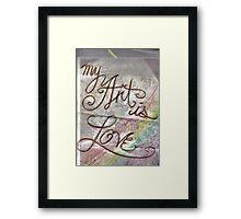 Art Love Framed Print