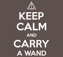Keep Calm and Carry a Wand T-Shirt Kids Clothes