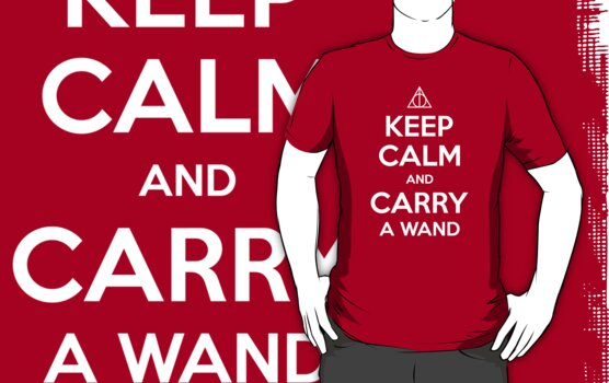Keep Calm and Carry a Wand T-Shirt by wittytees