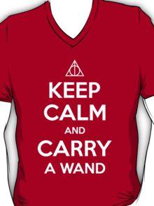 Keep Calm and Carry a Wand T-Shirt T-Shirt