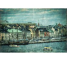 View of Old Town, Stockholm Photographic Print