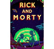 Rick and morty...Run Morty Run  Photographic Print