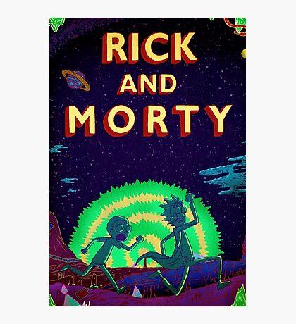 Rick and morty...Run Morty Run  Photographic Print