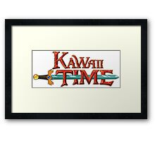Kawaii Time Framed Print