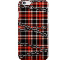 Red Plaid and Chains iPhone Case/Skin