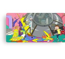 OMG MORTY YOU JUST KILLED THE SIMPSONS Canvas Print