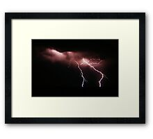Lightning over West Beach Framed Print
