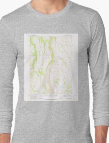 USGS Topo Map Oregon Big Pasture Creek 279030 1968 24000 Long Sleeve T-Shirt