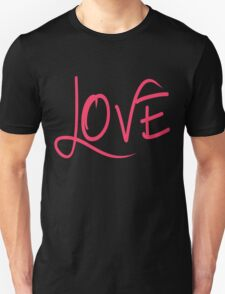LOVE in a Cool Breezy Font Unisex T-Shirt