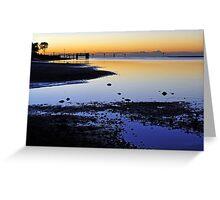 Pre dawn at Shorncliffe. Brisbane, Queensland, Australia. (2) Greeting Card