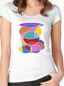 Abstract #24 Women's Fitted Scoop T-Shirt