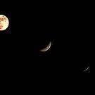 lunar eclipse tryptch by lensbaby